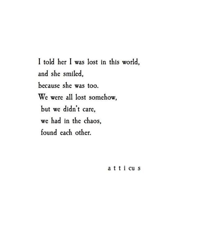 Atticus Love Quote